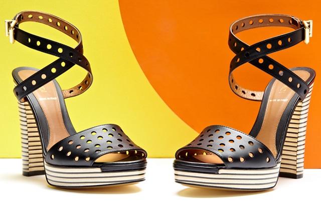 Fendi Women's Striped Sandal