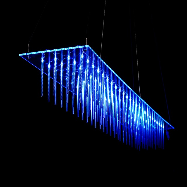 Puff Buff Blue Glass Hanging Lamp_1