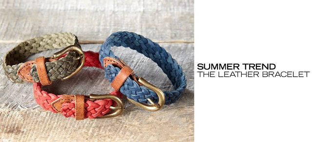 Summer Trend The Leather Bracelet at MYHABIT