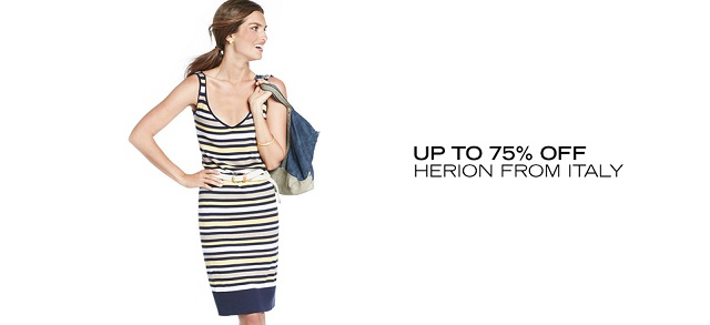 Up to 75 Off Herion from Italy at MYHABIT