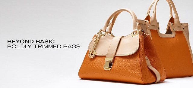 Beyond Basic Boldly Trimmed Bags at MYHABIT