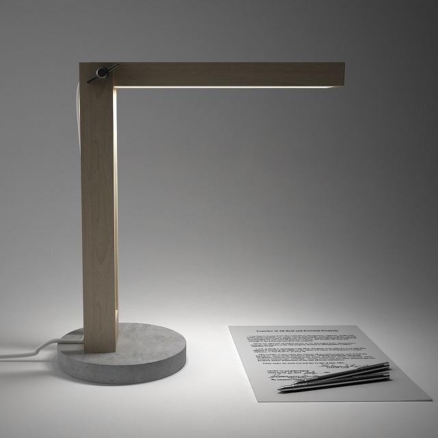 DIME design Wood and Concrete Lamp_1