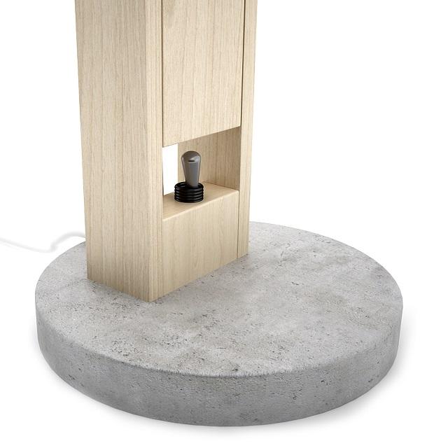 DIME design Wood and Concrete Lamp_5