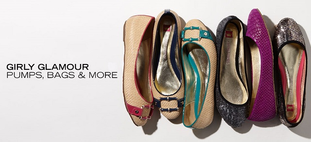 Girly Glamour Pumps, Bags & More at MYHABIT
