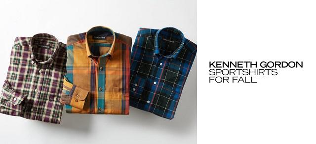 Kenneth Gordon Sportshirts for Fall at MYHABIT