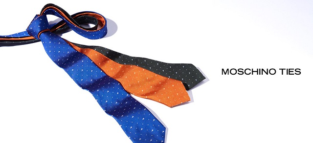 Moschino Ties at MYHABIT