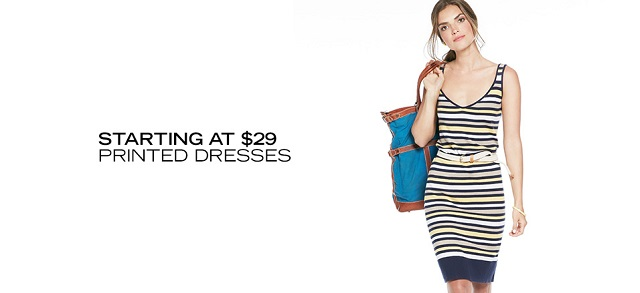 Starting at $29 Printed Dresses at MYHABIT