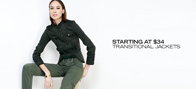 Starting at $34 Transitional Jackets at MYHABIT
