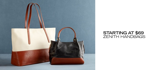 Starting at $69 Zenith Handbags at MYHABIT