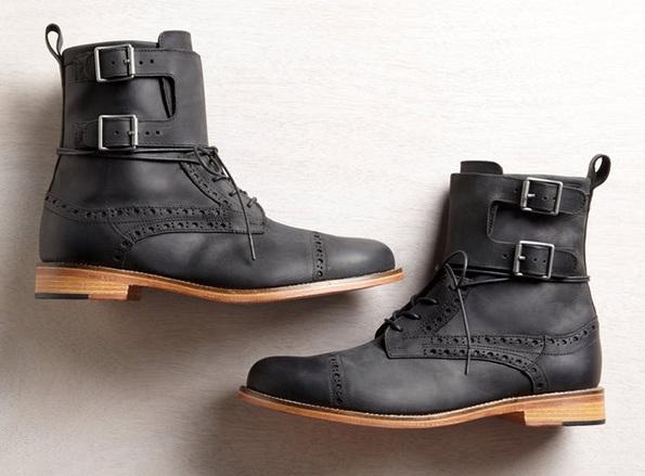 J SHOES Men's Burlington Leather Boot