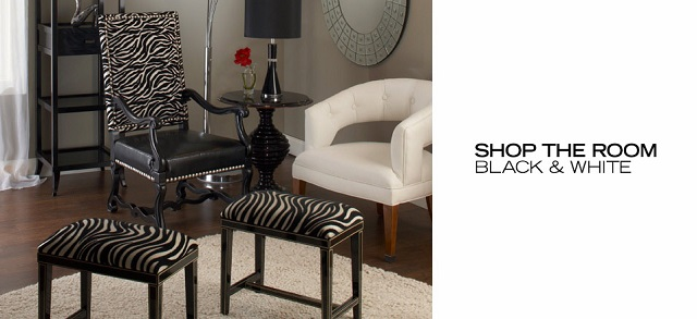 Shop the Room Black & White at MYHABIT
