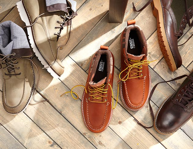 Style Staple Brown Leather Boots at MYHABIT