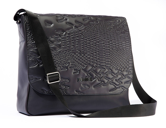 Just Cavalli Men's Embossed Messenger