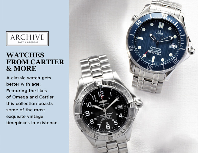 ARCHIVE Watches from Cartier & More at MYHABIT
