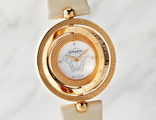 Versace Eon 3 Rings Beige Watch