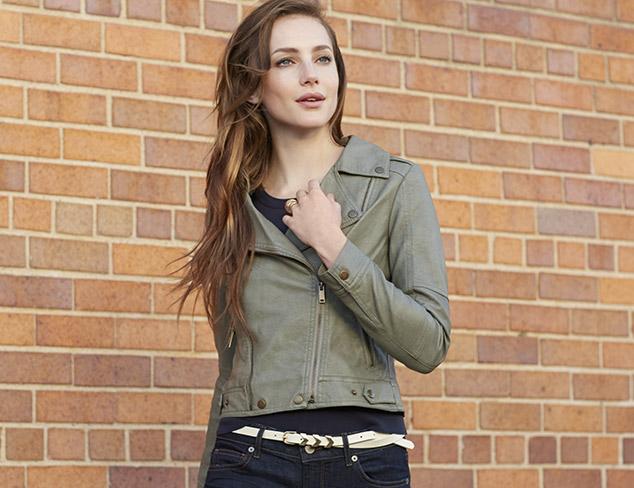 LatteBLACK Women's Faux Leather Moto Jacket