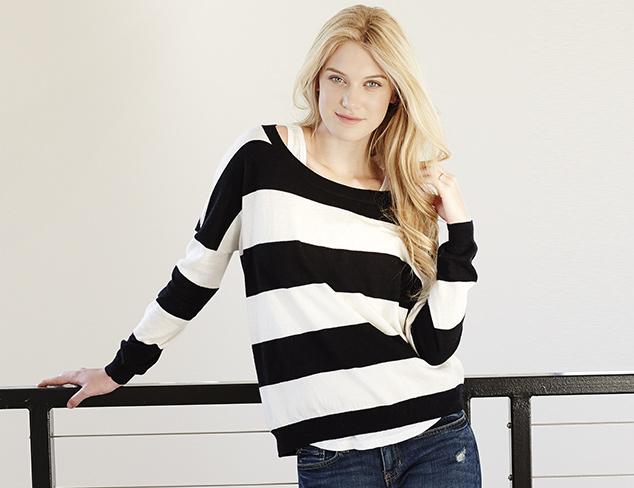 Shae Women's Stripe Boatneck Sweater