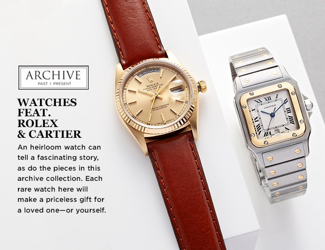 ARCHIVE Watches feat. Rolex & Cartier at MYHABIT