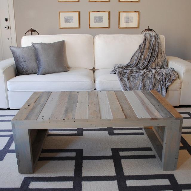 Raka Mod Modern Grey Pallet Coffee Table