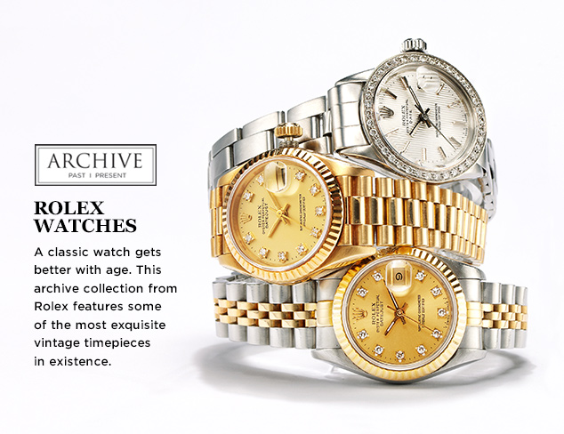 ARCHIVE Rolex Watches at MYHABIT