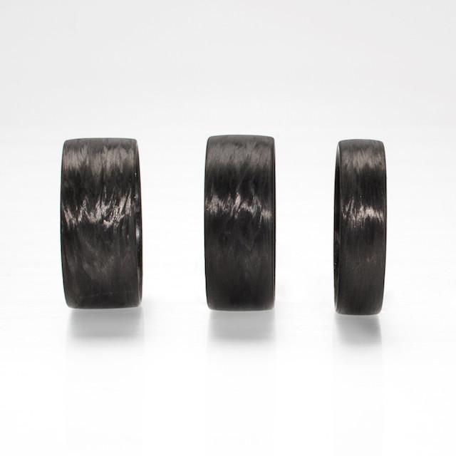 REFRACTORY Carbon Fiber Rings in Wood-Like Grain