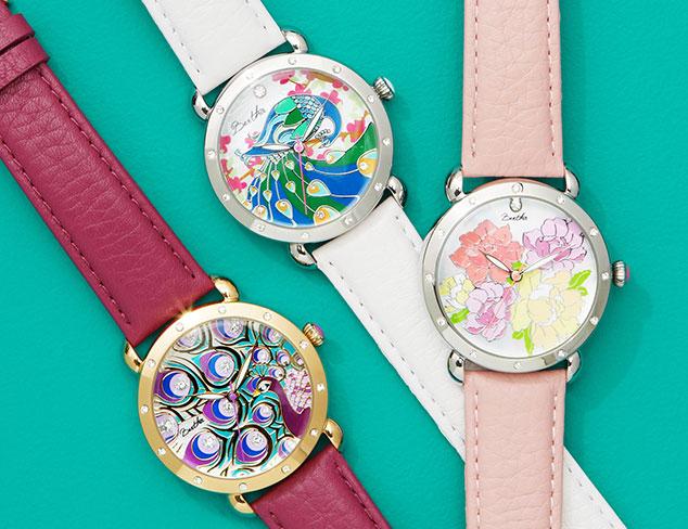 Bertha Angela Multicolor Leather Watch
