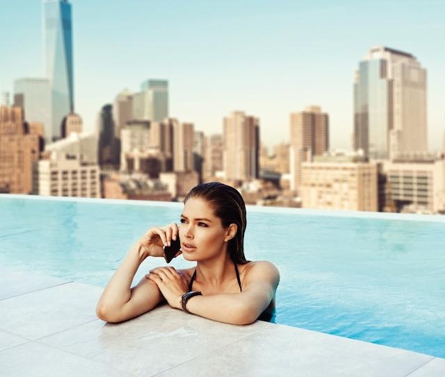 Doutzen Kroes for Samsung S5 Smartphone Campaign