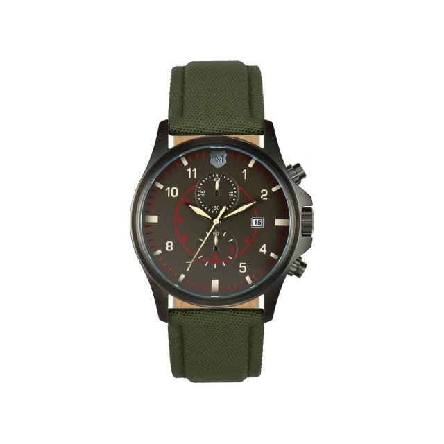 Andrew Marc Fly Military Men's Watch // Dark Green