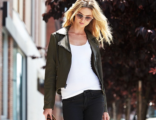 Denim Essential: The Leather Jacket at MYHABIT