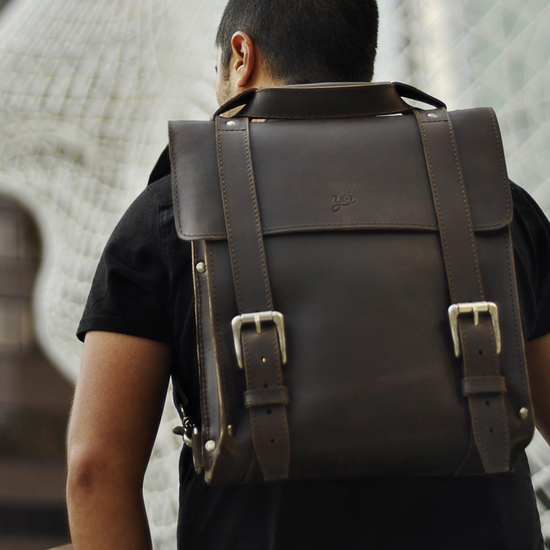 Yor Leather Messenger Bag
