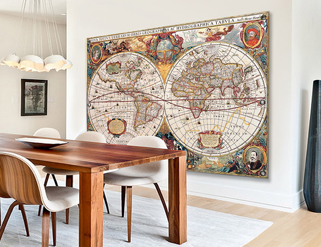 Worldly Map Murals at MYHABIT
