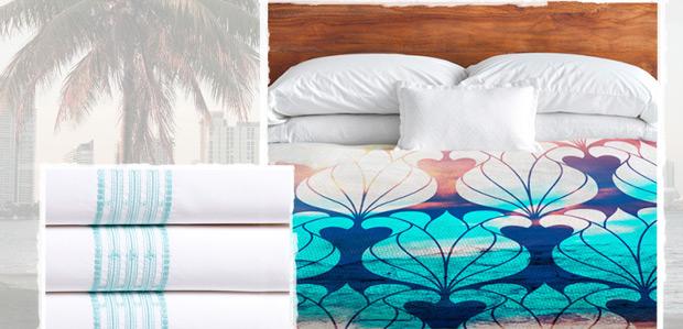 A Night In: Bedding Inspired by Miami at Rue La La