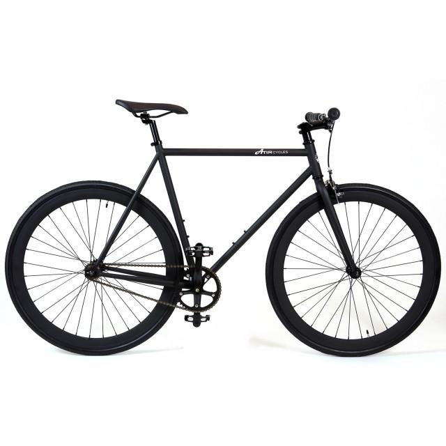 ATIR Cycles Single Speed / Fixed Gear Urban Road Bike in Matte Black