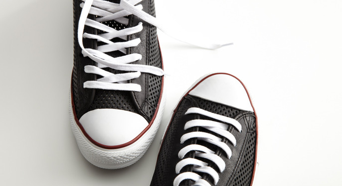 Black-&-White Sneakers at Gilt