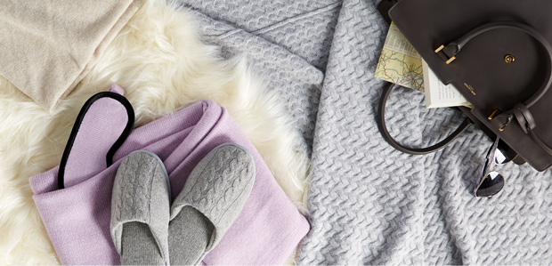 Cashmere Comforts: Throws, Socks, Slippers, & More at Rue La La