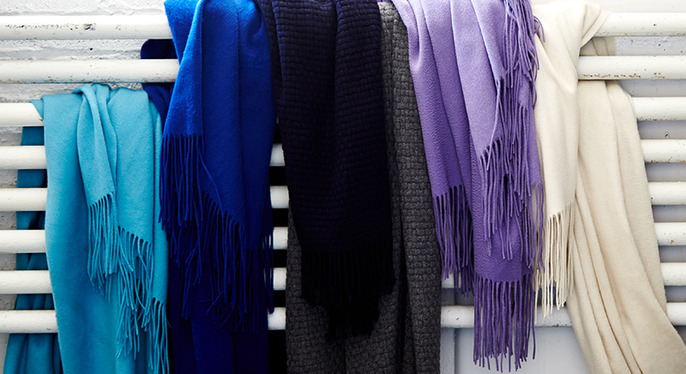 Colorful Cashmere Throws at Gilt