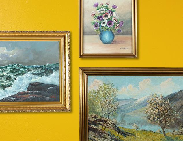 Gallery at Home: Vintage Artwork at MYHABIT