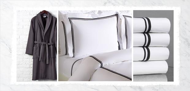 Just Like a Hotel: Luxe Bedding & Bath at Rue La La