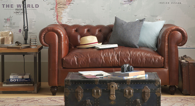 Luxe Leather Furniture & Rugs at Gilt