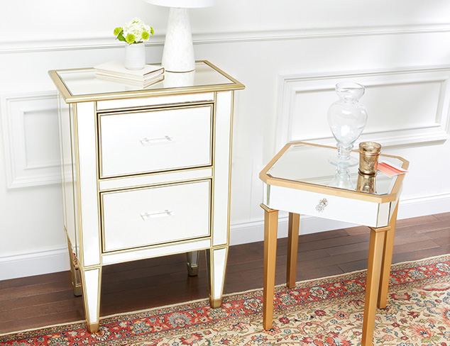Marble & Mirrored Furniture at MYHABIT