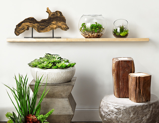 Natural Elements: Wood, Greenery & More at MYHABIT