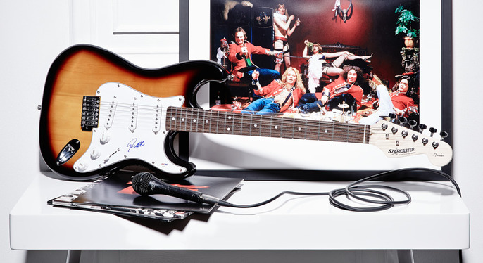 Rock & Roll Style: Guitars, Vinyl & Players at Gilt