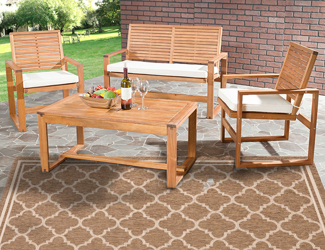 Safavieh Home Collection Hailey Outdoor Living Acacia Patio Set