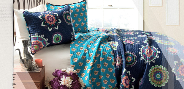 Sunday Sleep-In: Quilts & Throws to Color the Bed at Rue La La
