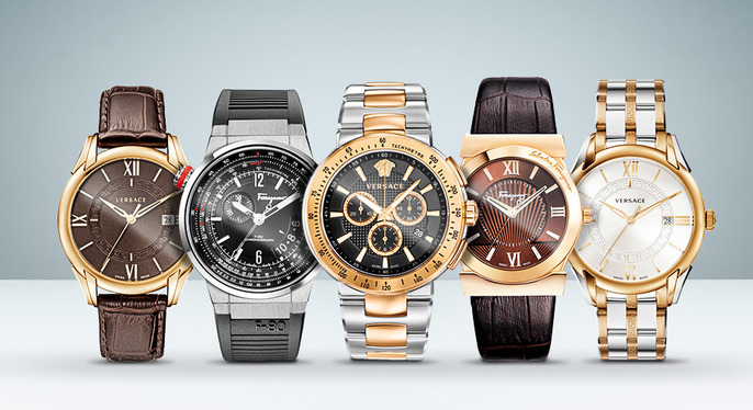Versace & Ferragamo Watches at Gilt