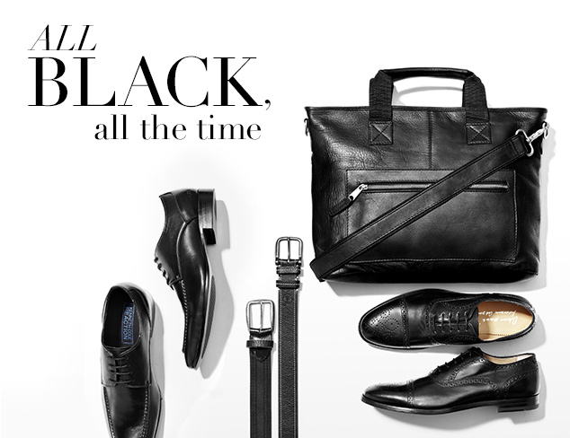 All Black, All the Time: Shoes & Accessories at MYHABIT
