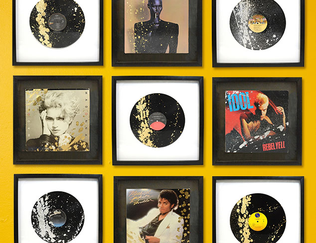 Art That Rocks: Retro Framed Records & Albums at MYHABIT