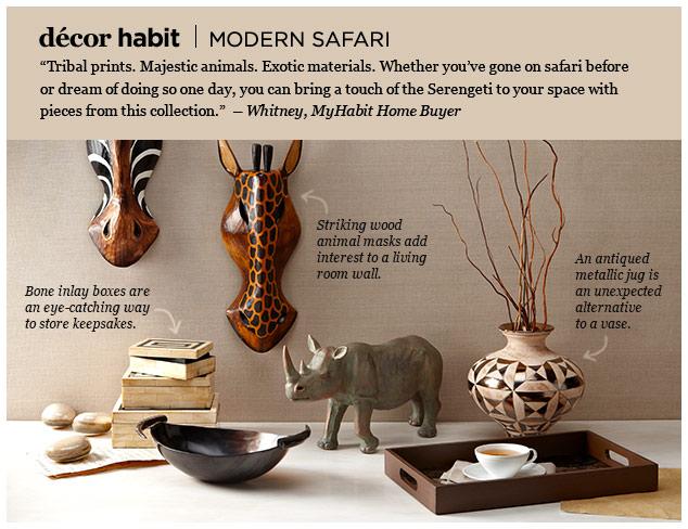 Décor Habit: Modern Safari at MYHABIT