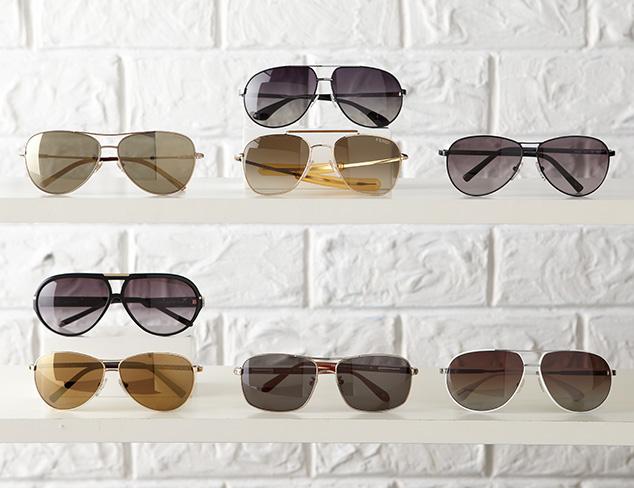 Designer Aviator Sunglasses at MYHABIT