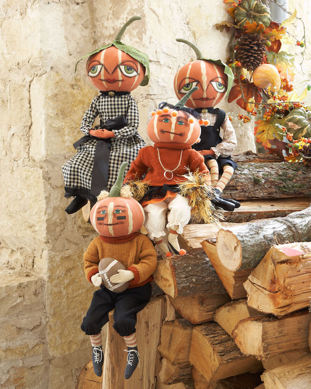 Gathered Traditions by Joe Spencer Pumpkin Doll Decorations_1